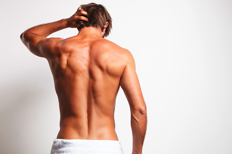 Removal of male back hair