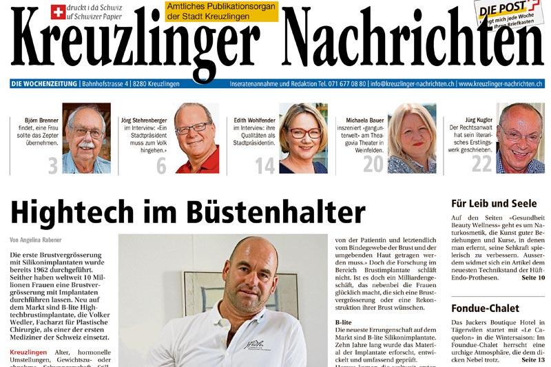 Bericht Hightech im Büstenhalter Kreuzlinger Nachrichten